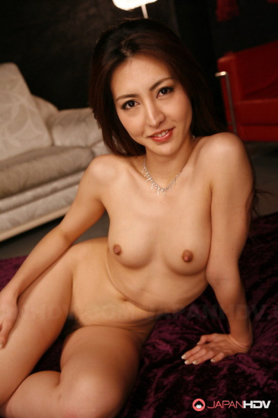 Petite Japanese redhead Julia Nanase endures breast groping in the nude