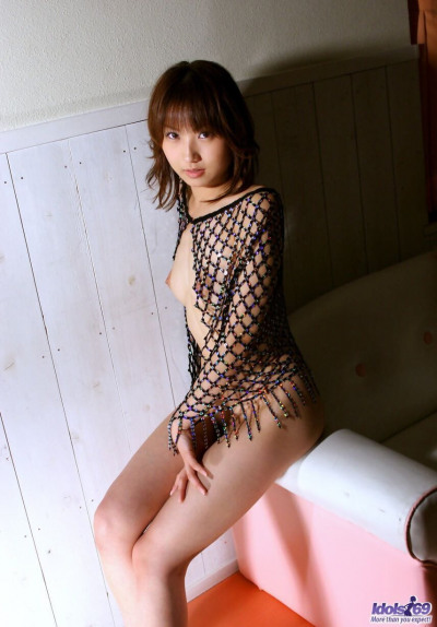 Japanese girl Haruka Morimura sets her dark patch free while changing outfits